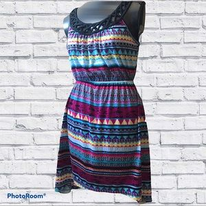 No Boundaries High Low Colourful Summer Dress